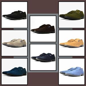 Lambretta Broadway Brogue Mens Suede Shoes - 8 Colours Smart Casual Brogue