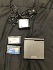 Nintendo Game Boy Advance SP Graphite Black System AGS-101 Tested Working