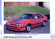 1985 Ford Mustang GT 5.0 Liter H.O. Info/Specs/photo/price 11x8