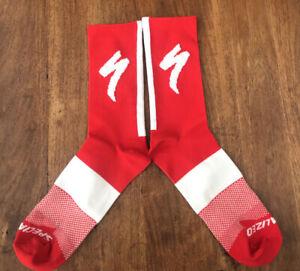 New Red SPECIALIZED S-Works CYCLING SOCKS UK SIZE 39-44 road bike socks