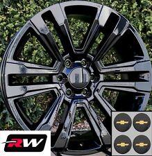 "20"" inch 20 x9"" Wheels for Chevy Silverado 1500 Gloss Black GMC Denali Rims"