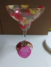 Lolita Wine Glass Love my Margarita glass Pomegranate hand painted 15 oz