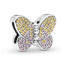 NEWest Sterling Silver REFLEXIONS BEDAZZLING BUTTERFLY CLIP Charm