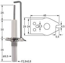 Küppersbusch Zündelektrode für EGP500, FGS080, FGS100, PGS088 ø 9,5mm