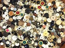 BUTTONS! HUGE Lot THREE POUNDS Vintage Sewing Buttons 3lb Estate Sale Mix 3P06
