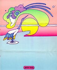 "PETER MAX STATIONARY SHEET 8 1/2""x10 1/2"" COSMIC PSYCHEDELIC (circa 1972)"