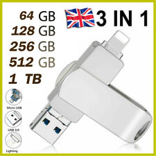 More details for 3 in1 usb 3.0 1tb usb flash drive external storage memory stick for iphone ipad