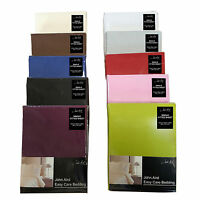 Plain Fitted Bed Sheets - Single Double King 50% Cotton✔