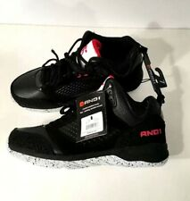 AND1 US Shoe Size Men Athletic Comfort Casual Black Lace Up Basketball Size 10