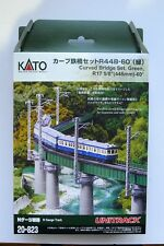 Kato N Scale  20-823 UNITRACK Curved Bridge Set