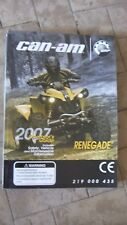 CAN AM OPERATOR'S GUIDE 2007 RENEGADE 219000435 BRP ATV QUAD MANUALE INGLESE