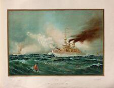 US Navy Battle Ships Fregatte USS Indiana Oregon Massachusetts Panzerschiff USA