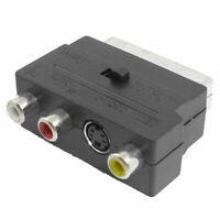 Scart 20 Pin Macho a 3 RCA AV Adaptador Hembra Conector