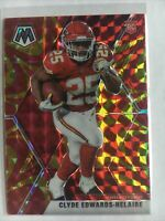 2020 Mosaic Football Clyde Edwards-helaire Gold Reactive Rookie! Clyde Mosaic