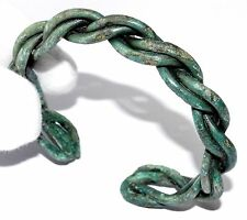 AUTHENTIC VIKING TWISTED BRONZE BRACELET - WEARABLE ARTIFACT - ST89