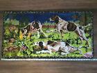 "Vintage English Setter Cotton? Tapestry 37 1/4"" x 19 1/4"" Dog Hunt Scene Grouse?"