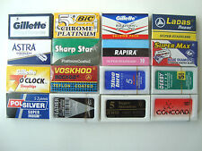 100 mixed Double Edge Safety DE Razor Blades sample pack Feather Gillette lot 2