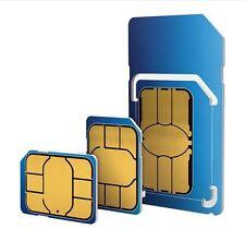 2G 3G 4G Tarjeta sim/Micro/Nano/Standard O2 Prepago Reino Unido Inglaterra
