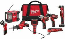 Milwaukee 2495-28 M12 12-Volt Cordless Power Lithium-Ion 8-Tool Combo Kit NEW