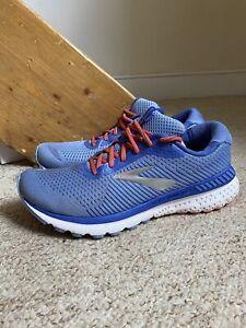 Women's Brooks Adrenaline GTS 20 Trainers/Shoes Blue/Orange UK Sz. 8