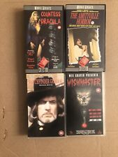 4 X HORROR VHS Videos - Bundle - small box