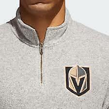 ADIDAS 1/4 Zip Sweatshirt Sweater Golden Knights NHL DN2165 Beige 2XL $90