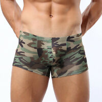 Fashion Military Men's Camouflage Nylon Boxer Briefs Trunks Underwear Underpant