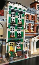 LEGO CUSTOM MODULAR BUILDING Green Town House come 10182, 10224 City Treno
