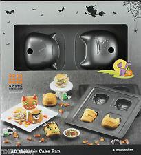 Halloween Bradshaw Good Cook 3D Monster Cake Metal Pan Makes 4 Cakes NIB