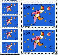 Variété Niki de St Phalle sans le vert N° 2776a ds 1 bande de 3 ! Un Classique !