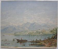 Chiemsee Herrenchiemsee Orig Aquarell monogr um 1930