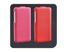 iPhone 5C Genuine Real Leather Flip Ultra Slim Case Screen Protector Cover