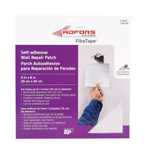 FibaTape 8in L x 8in W Fiberglass Mesh White Self Adhesive Wall Repair Patch