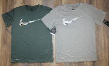 NWT Nike Men's Dri-Fit Camouflage Swoosh T-Shirt Gray  XL XXL