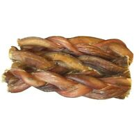 """PREMIUM 6"""" inch BRAIDED BULLY STICKS FOR DOGS EXCELLENT DOG CHEW  (6 pcs)"""