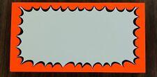 """Retail Store Starburst Price Cards-Display Signs 9""""x5""""- 50pcs- Neon Orange/Blk"""