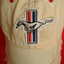Hat Cap Ford Mustang Pony GT Distressed Worn Trashed Vintage by Falcon