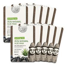 Welcos Jeju Natural Aloe Facial Mask Soothing Moisturizing 10pcs  korea Cosmetic