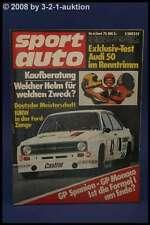 Sport Auto 6/75 BMW 528 Ford Capri II A 112 E + Poster
