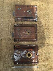 Matching Antique Vintage Rimlock Rim Lock Door Locks 4 Restoration Period House