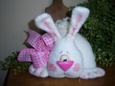 PATTERN~PRIMITIVE EASTER BUNNY RABBIT SHELF SITTER DOLL ORNIE