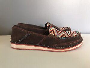 Ariat Cruiser Palm Brown Serape Mesh Slip On Shoes Womens 7.5