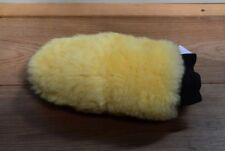 Genuine  sheepskin polishing mitt car wash lambswool yellow