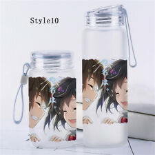 Anime Your Name Glass Bottle Travel Cup Transparent Tea Cup Outdoor Cosplay