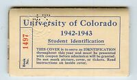 1942-43 University Of Colorado-CU Student Id-Photo-Margie Solter-Event Booklet