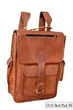 Great Vintage Look Leather Backpack Men's Shoulder Rucksack Laptop Travel Bag