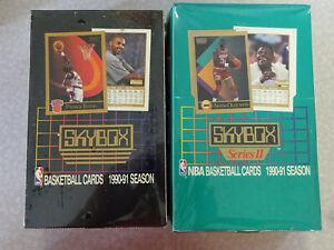 SEALED Set of 2 1990-91 Skybox Basketball Boxes (Series I & Series II)