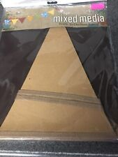 Brown Kraft Paper Garland Triangle Pennant Banner Party NEW Ready To Decorate
