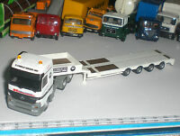 🚚052🚚 SPECIAL SEMI TRAILER FLAT TRUCK HERPA CAMION MERCEDES ECHELLE 1:87 USED