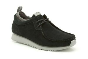 CLARKS TAWYER LO BLACK SUEDE MEN'S CASUAL SHOES NEW WITH BOX 41 UK &G